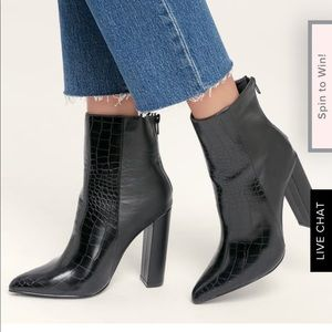 Shoes - Black snake boots